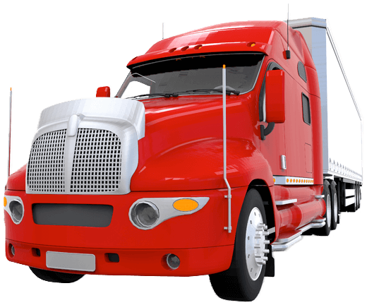 ASAP Transport Solutions Red Semi image